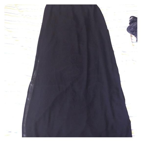 forever 21 sheer thigh high slit maxi skirt from