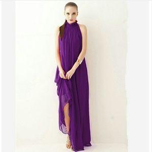 009  Chiffon formal maxi dress