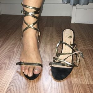 Colin Stuart strappy ankle-wrap sandal