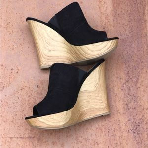 Call It Spring Shoes - Beautiful wedge peep toe shoes