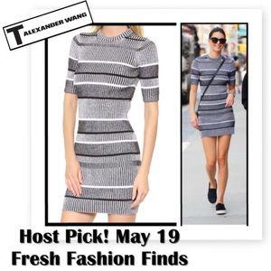 T by Alexander Wang Dresses & Skirts - NWOT✨T by Alexander Wang Stripe Sweater Dress