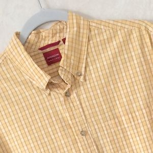 Arrow Other - Men's Arrow Yellow Button Down Top L