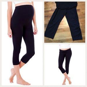 BeMaternity Pants - Ingrid & Isabel Maternity Capri Black Legging