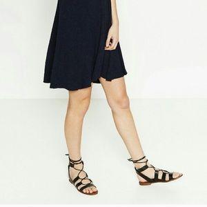 Zara Shoes - Zara Flat Black Sandal