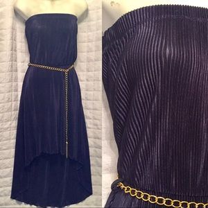 Dresses & Skirts - 🔥CLEARENCE🔥 Strapless high low blue dress New M