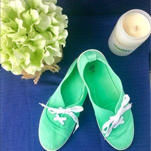 Mint Green H&M Lace-up Flats
