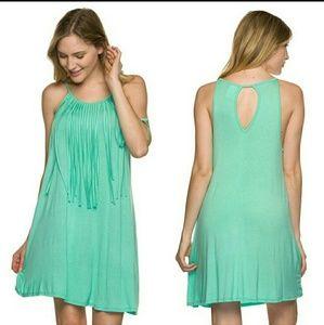 Twilight Gypsy Collective Dresses & Skirts - Mint Fringe Dress