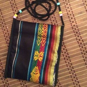 Handmade Handbags - Tribal Print Boho Passport Bag NEW