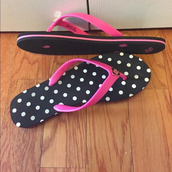 Kate Spade - Kate Spade Polka Dot With Pink Flip Flops -6685