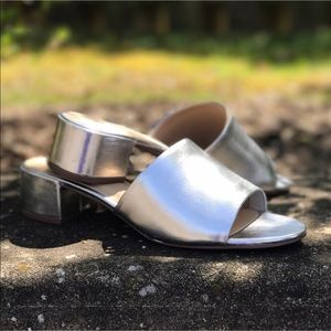 Shoes - Chic Silver Metallic Mules