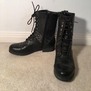 pink & pepper Shoes - Black Combat Boots