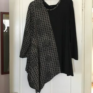Cupcakes & Pastries Tops - Assemetric Tunic in 2 Fabric Designs