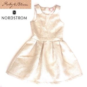 ruby & bloom Other - EUC Ruby & Bloom Brocade Dress in Girls' Size 8