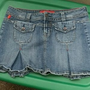IT Dresses & Skirts - IT jeans mini pleted skirt