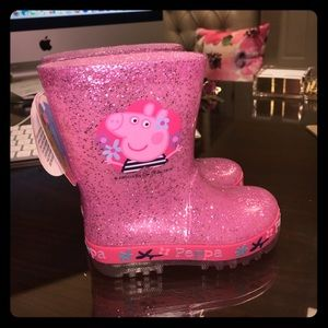 Peppa Pig Shoes - Peppa Pig Toddler Light Up Rain Boots - New