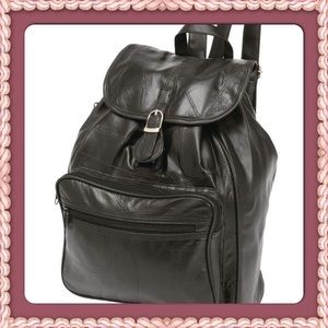 Embassy™ Italian Stone™ Handbags - Design Genuine Lambskin Leather Backpack