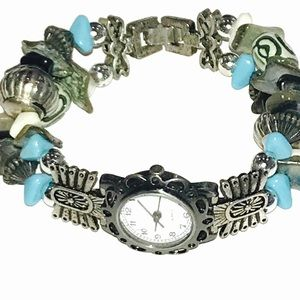 Vintage Turquoise and Silver Watch