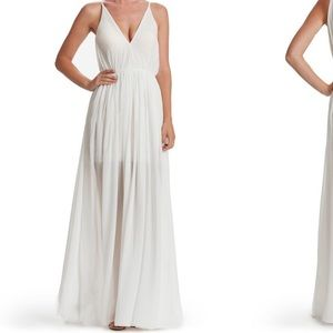 Dress the Population Dresses & Skirts - Flowing Illusion Chiffon Gown Maxi Dress