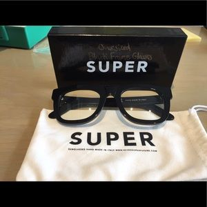 RetroSuperFuture Accessories - Retro Super Future Oversized Black Eyeglasses