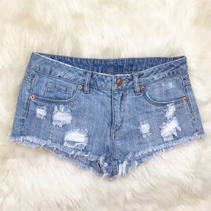 H&M Pants - H&M Distressed Frayed Denim Cutoff Shorts