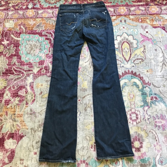 7 For All Mankind - 7 For All Mankind destroyed bootcut ...