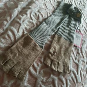 Vince camuto fingerless knit gloves