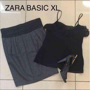 Zara Basic Wool blend skirt size XL