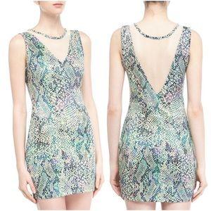 Lovers & Friends Snake Print Scuba Bodycon Dress