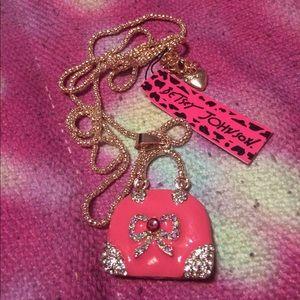 Betsey Johnson Jewelry - Gorgeous Betsey Johnson Pink Purse Necklace - NWT