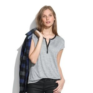 Madewell Leather-Trim Henley
