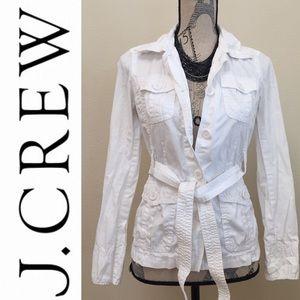 J. Crew Classic White Cotton Jacket