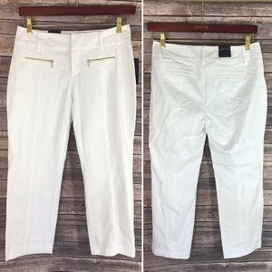 INC International Concepts Pants - NEW Inc Capri Solid White Pants Size 4 Curvy Fit