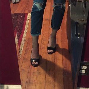 Size 9 Franco Sarto black heels