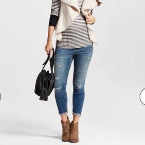 Liz Lange Denim - Liz Lange Maternity Ankle Skinny Ripped Jeans