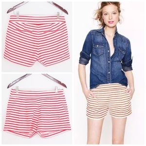 J. Crew Pants - J.Crew Factory Pleated Nautical Striped Short