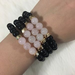 Jewelry - Handmade 4pc Natural rose quartz wholesale bundle