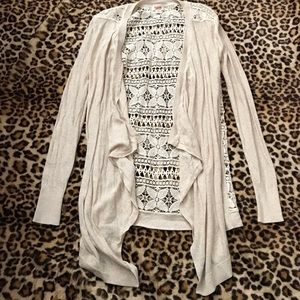 Mossimo Supply Co cream lace cardigan size XS