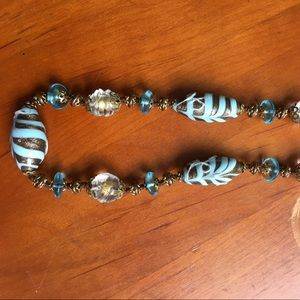 Vintage Venetian glass necklace from Italy.