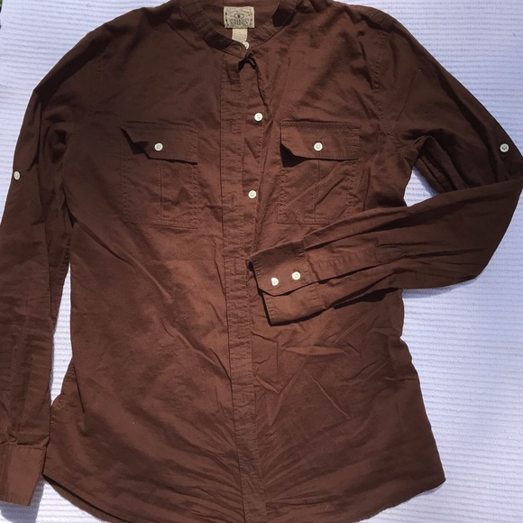 69 off lucky brand tops lucky brand brown button up for Lucky brand button down shirts