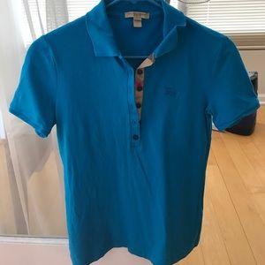 Burberry blue polo