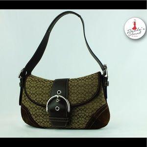 Coach Handbags - Authentic Coach brown C Print Handbag