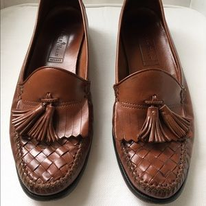 Cole Haan Other - Cole Haan Light Brown Leather Loafers with Tassels