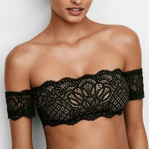 Vs off the shoulder lace bralette