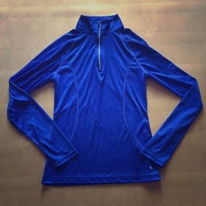 Danskin Now Tops - Blue Workout Pullover