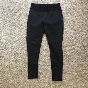 fylo Pants - Dark gray leggings w leather stripe quality L