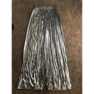 American Apparel Pants - American apparel silver disco pants
