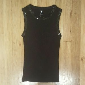 BRAND NEW WITH TAGS  SEQUIN TRIMMED TANK TOP