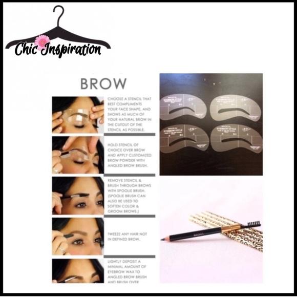 Makeup Sale 4 Piece Eyebrow Stencils Nwot Poshmark