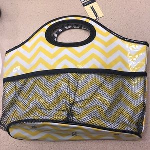 Mud Pie Handbags - Yellow and Navy bag