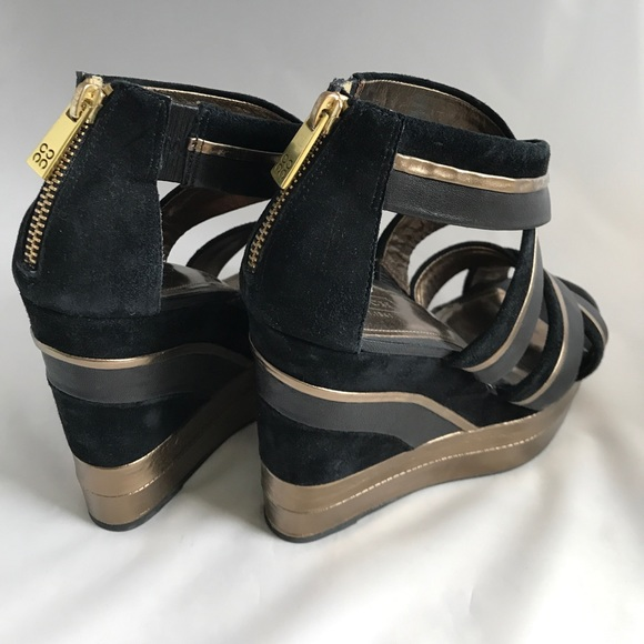 55 coach shoes coach wedges platform heels size 7